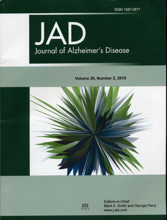 Journal of Alzheimer's Disease book cover
