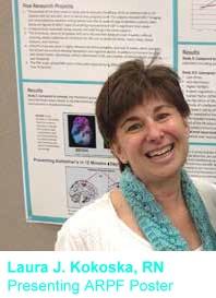 Laura J. Kokoska, RN, Presenting ARPF Poster